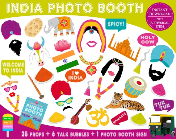 photograph about Indians Printable Schedule called PRINTABLE India Picture Booth PropsBollywood Props-India