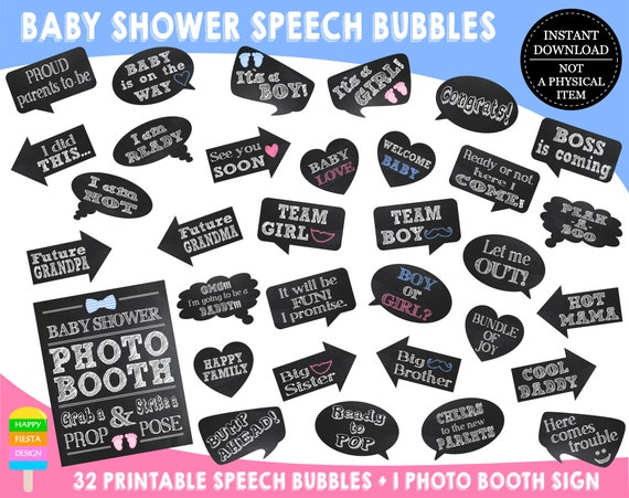 graphic regarding Free Printable Baby Shower Photo Booth Props known as PRINTABLE Kid Shower Picture Booth PropsBaby Shower Picture