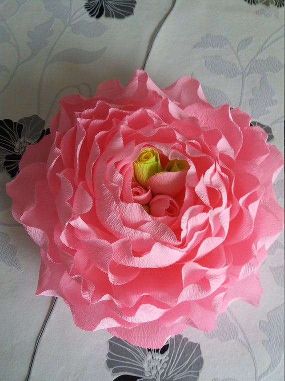 Giant Crepe Paper Peony Large Crepe Paper Flowershome Etsy
