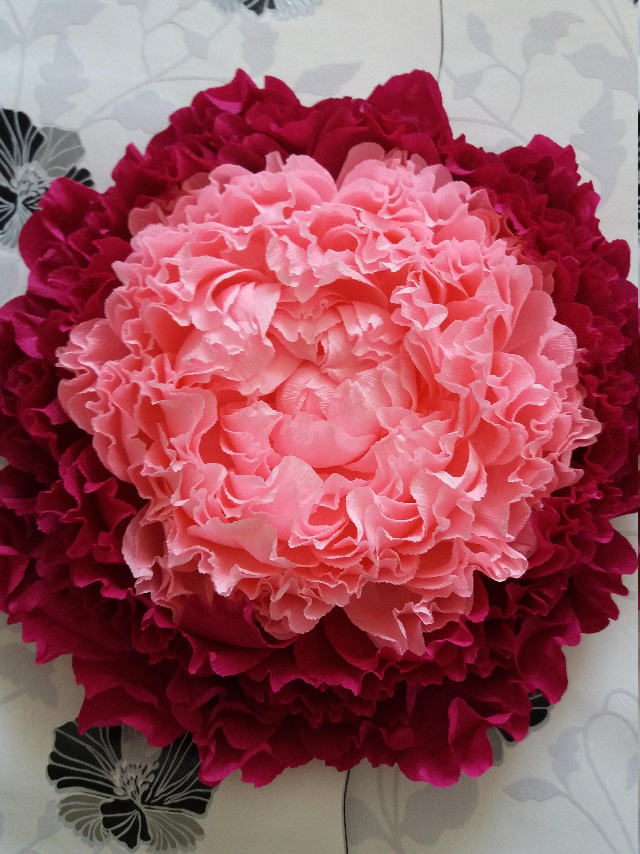 Giant Crepe Paper Peony Large Crepe Paper Flowerswedding Etsy