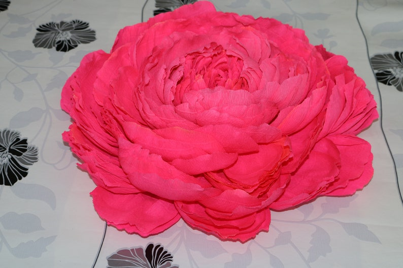 Giant Crepe Paper Peony Large Crepe Paper Flowers Home Decor Wall Decor Large Paper Flowers Large Peony