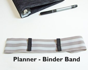 Book Band Moleskine Journal Pen Holder STRIPES Planner Binder Band, Bullet Journal Accessories, Leuchtturm 1917 Pen Loop, Binder Pen Holder
