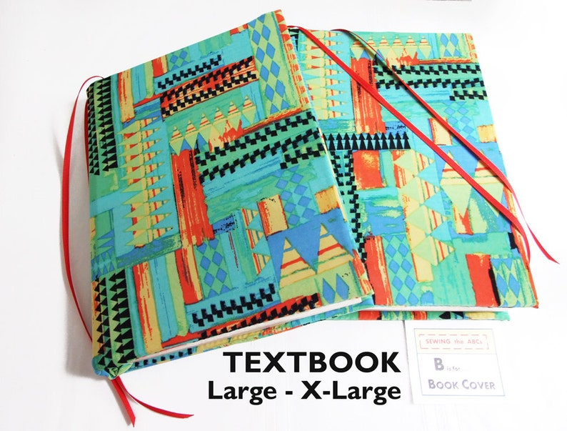 Stretch Book Cover For Textbooks In Triangles L Xl School Book Etsy
