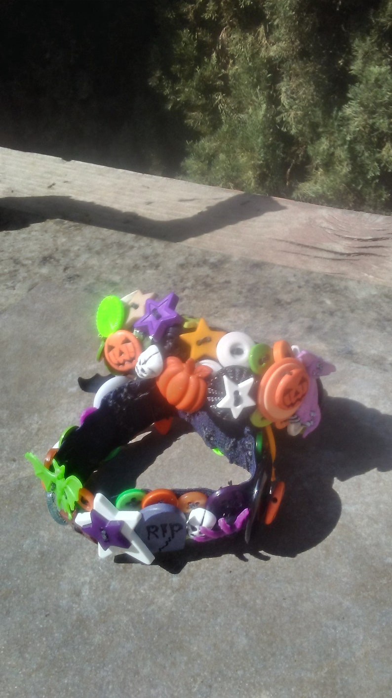 Halloween Button Bracelet/Scary Halloween Bracelet/Halloween image 0