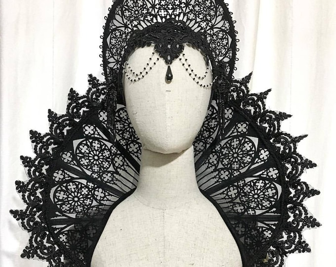 Elizabethan Cathedral Collar Vampire gothic shoulder piece standing alone