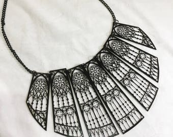 Metal Filigree Jewelery 7 piece necklace style cathedral