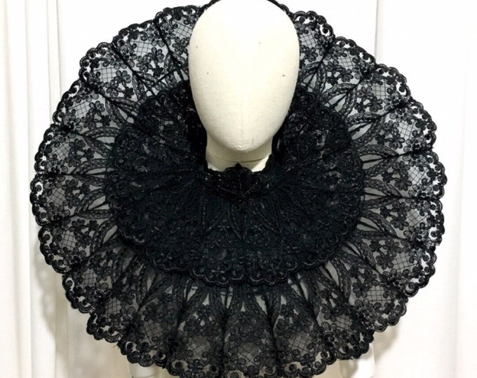 Giant gothic Elizabethan dracula lily bridal Ruff inspired for shoulders