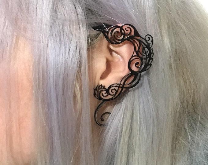 Tote Earrings Metal Filigree labyrinth shape