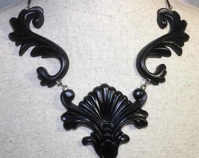 Necklace 3d liberty mucha art nouveau style
