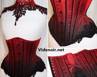 Underbust with lace and ombre design Hourglass shape