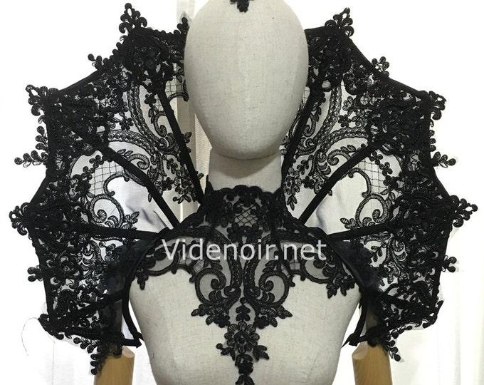 Elizabethan gothic Collar Vampire style shoulder piece - big size