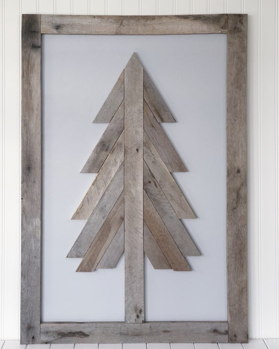 Large Reclaimed Wood Art - FREE SHIPPING