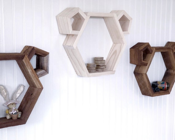 Wood Animal Wall Shelf - FREE SHIPPING