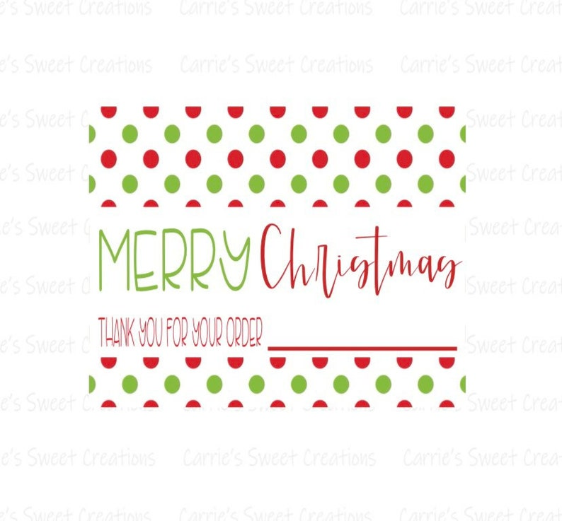 Merry Christmas Thank You For Your Order 2x3 Printable Tag Instant Digital Download Customer Thank You Card Thank You Tags