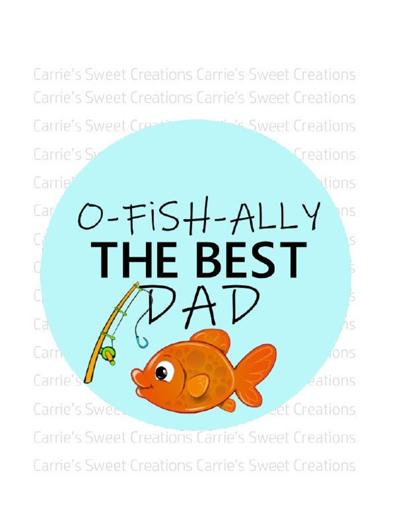 picture about O Fish Ally Printable known as Fathers Working day Fish Printable Tags- O-FISH-ALLY The Least complicated Father