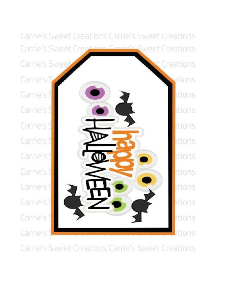 Bag Tags Halloween Tags Happy Halloween Gift Tags Printable Digital Download Cookie Tags