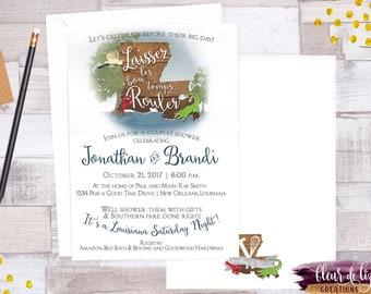 33a2aef180448 Digital file OR Printed Louisiana Saturday Night Couples Shower Invitation