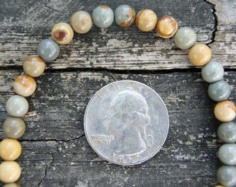 6mm Wild Horse Picture Jasper Round Beads - 8 Inch Strand