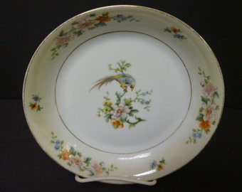 """HEINRICH 'SONGBIRD Soup / Salad Bowls. Vintage Selb, Bavaria China.1920's Heinrich """"SONGBIRD"""" Bavarian China. 6 Available. Sold in Sets of 2"""