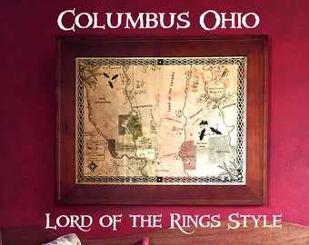 Columbus, Ohio in Lord of the Rings Style