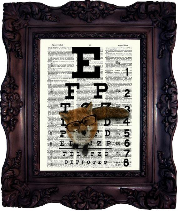 ORIGINAL ART PRINT ON ANTIQUE DICTIONARY BOOK PAGE Steampunk Elephant