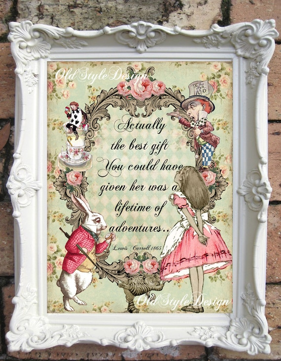 Alice In Wonderland Alice In Wonderland Decor Vintage Etsy