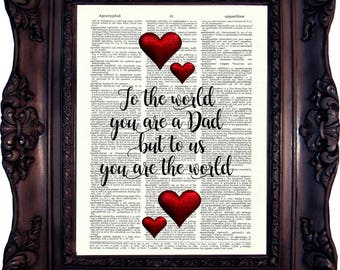 Dad Gift Fathers Day Gift Dad Print Personalized Dad Gift Fathers day gift from Daughter Gift Father gift Dad Son gift Daddy Gift C:865