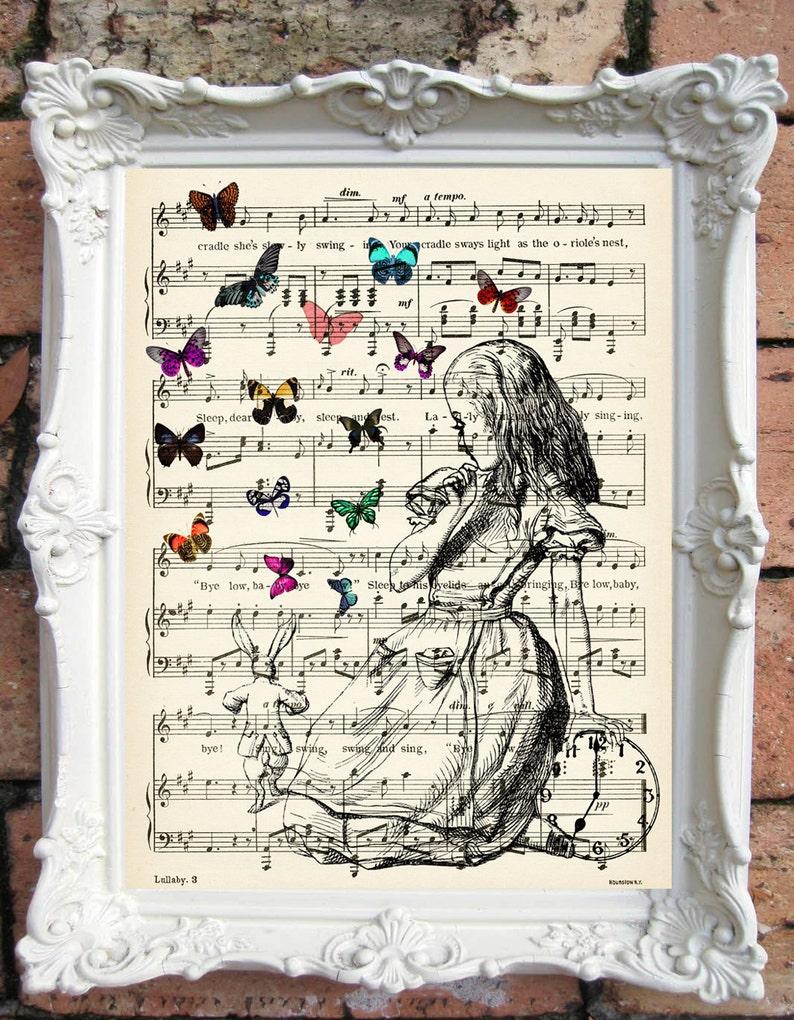 906035e176b6 ALICE in Wonderland Quote Art Print Alice in Wonderland | Etsy
