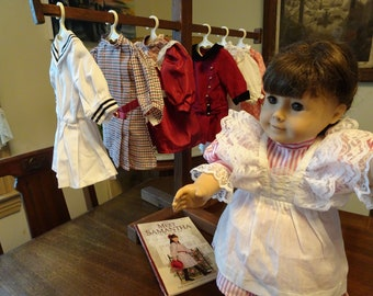 925129a08 American Girl Doll, Authentic American Girl, Samantha Doll, Rebecca Meet  Dress, Samantha Meet Dress, Molly Middy Dress, Samantha Striped Tea