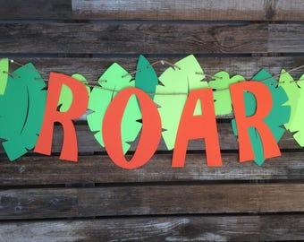 Dinosaur Party Roar Banner - Dinosaur Party, First Birthday, Photo Prop