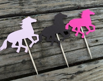 Cowgirl Horses Food Picks - Country Party, Baby Shower, Bridal Shower, First Birthday, Birthday Party, Party Decorations, Paisley