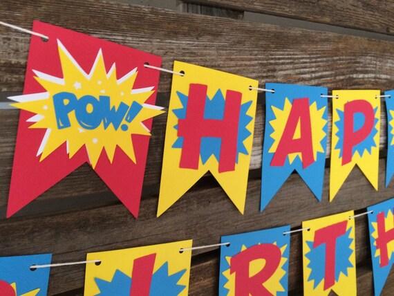 Superhero Birthday Banner Superman