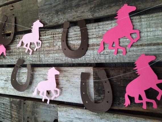 Cowgirl Party Garland Cowgirl Garland Cowgirl Party Decorations Cowgirl Baby Shower Decorations Cowgirl Birthday Horseshoe Baby Sprinkle