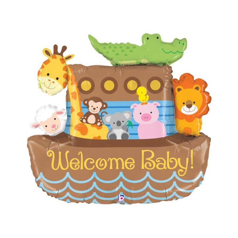 Géant Noahark Bienvenue Bébé Ballon Fête Danniversaire Première Baby Shower Décorations Danniversaire Ballons