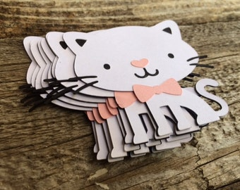 Kitten Cat Die Cuts - Cat Party, Kitten Party, Birthday Party, Party Decorations