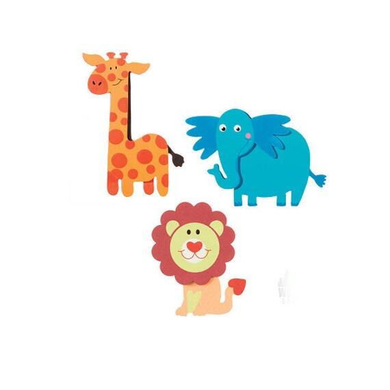 Real Wood Painted Safari Animal Cutouts Party