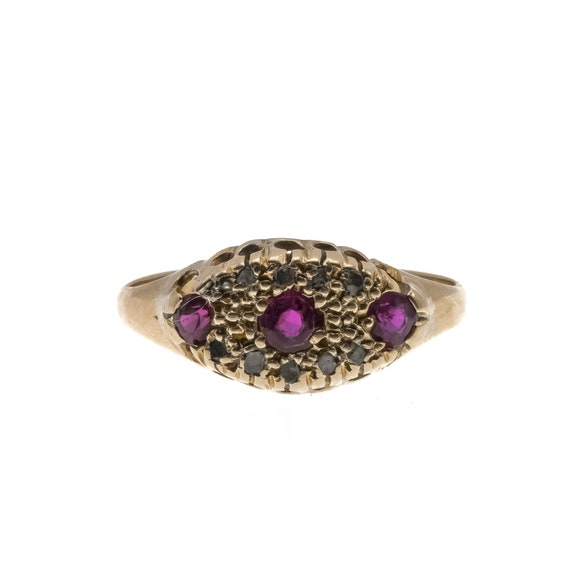 Strawberries & Champagne - Victorian 18K Gold Ruby