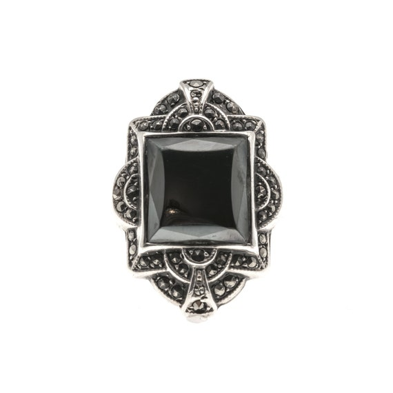 Art Deco Nights - Art Deco Sterling Silver Hematit
