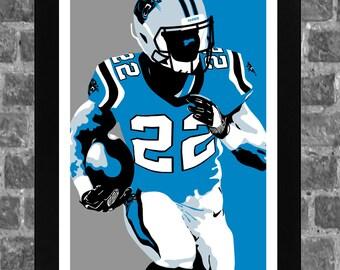 0ab4fed2920 Carolina Panthers Christian McCaffrey Sports Print Art 11x17