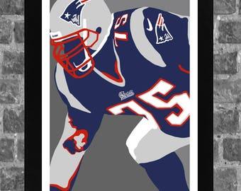 3d067392c New England Vince Wilfork Sports Print Art 11x17