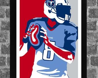 Tennessee Marcus Mariota Sports Print Art 11x17 8ce9b937d