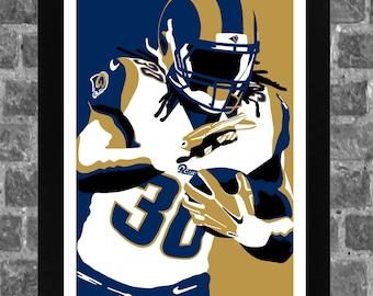 Los Angeles Todd Gurley Sports Print Art 11x17