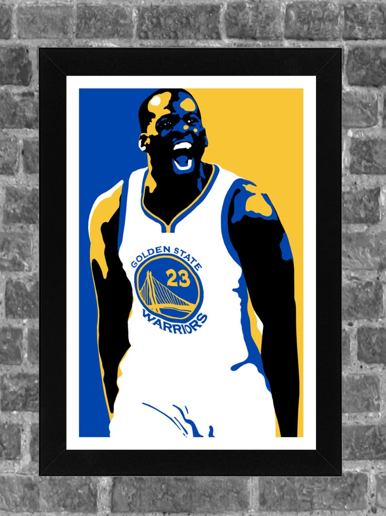 5b1ac29ea31 Golden State Warriors Draymond Green Portrait Sports Print Art