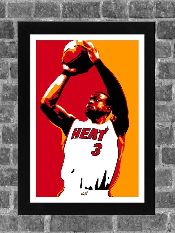 NEW 2019 Dwyane Wade Miami Heat Poster Canvas Print Art Decor Wall