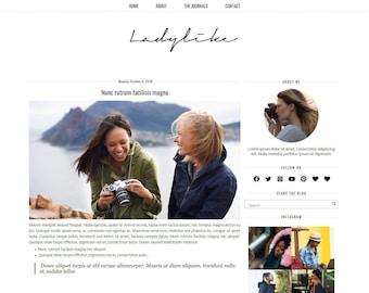 Ladylike - Blogger Template - Responsive Modern  Minimalist blogger template - creativeworkerbee