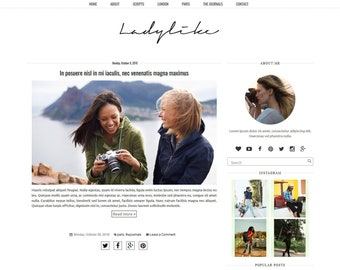 Blogger Template Etsy