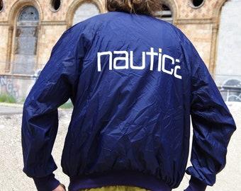 90's NAUTICA navy up lined jacket