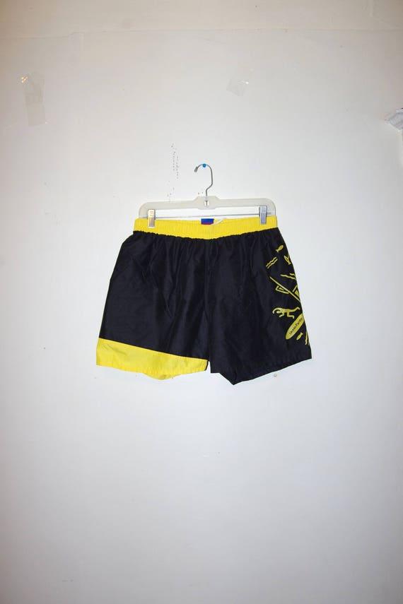 2c0957f2b9 Vintage 90s Ocean Pacific OP Printed Denim Board Shorts Size op
