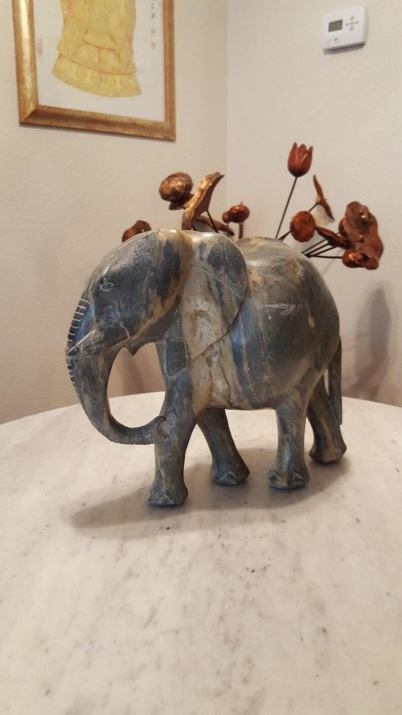 African shona soapstone sculptures from zimbabwe elephant etsy