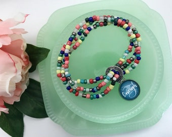 Color Explosion Beaded Stretch Bracelet